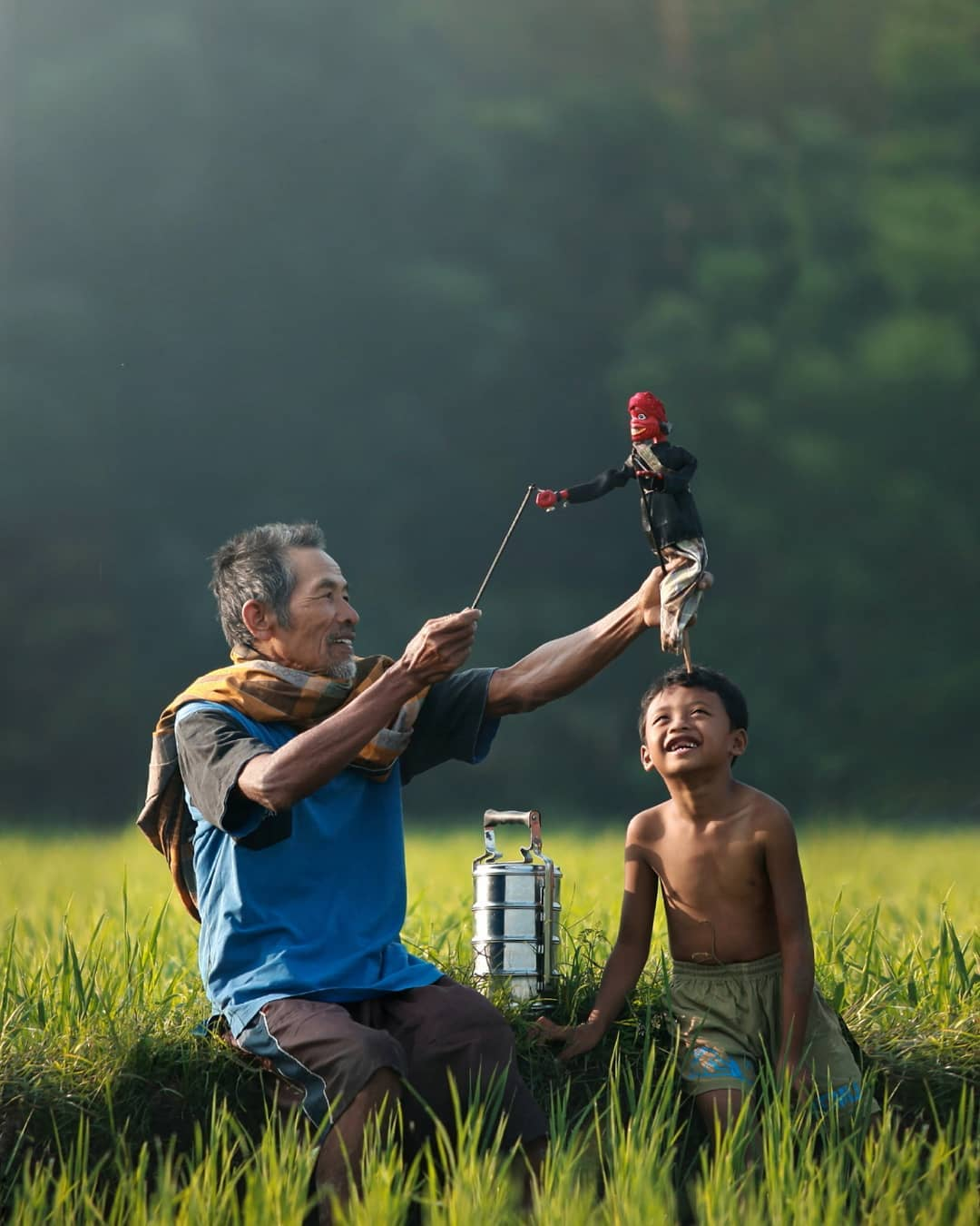 Indonesia Morning with Grandfather