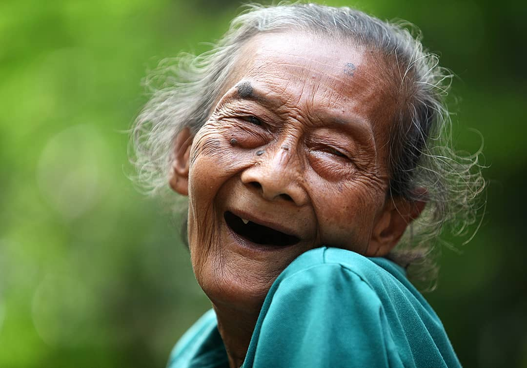 Indonesia Smiling Old Lady