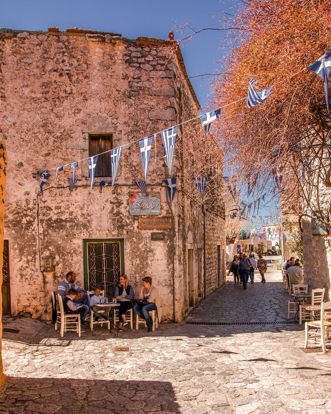 Areopoli Town Mani Peloponese Greece Summer
