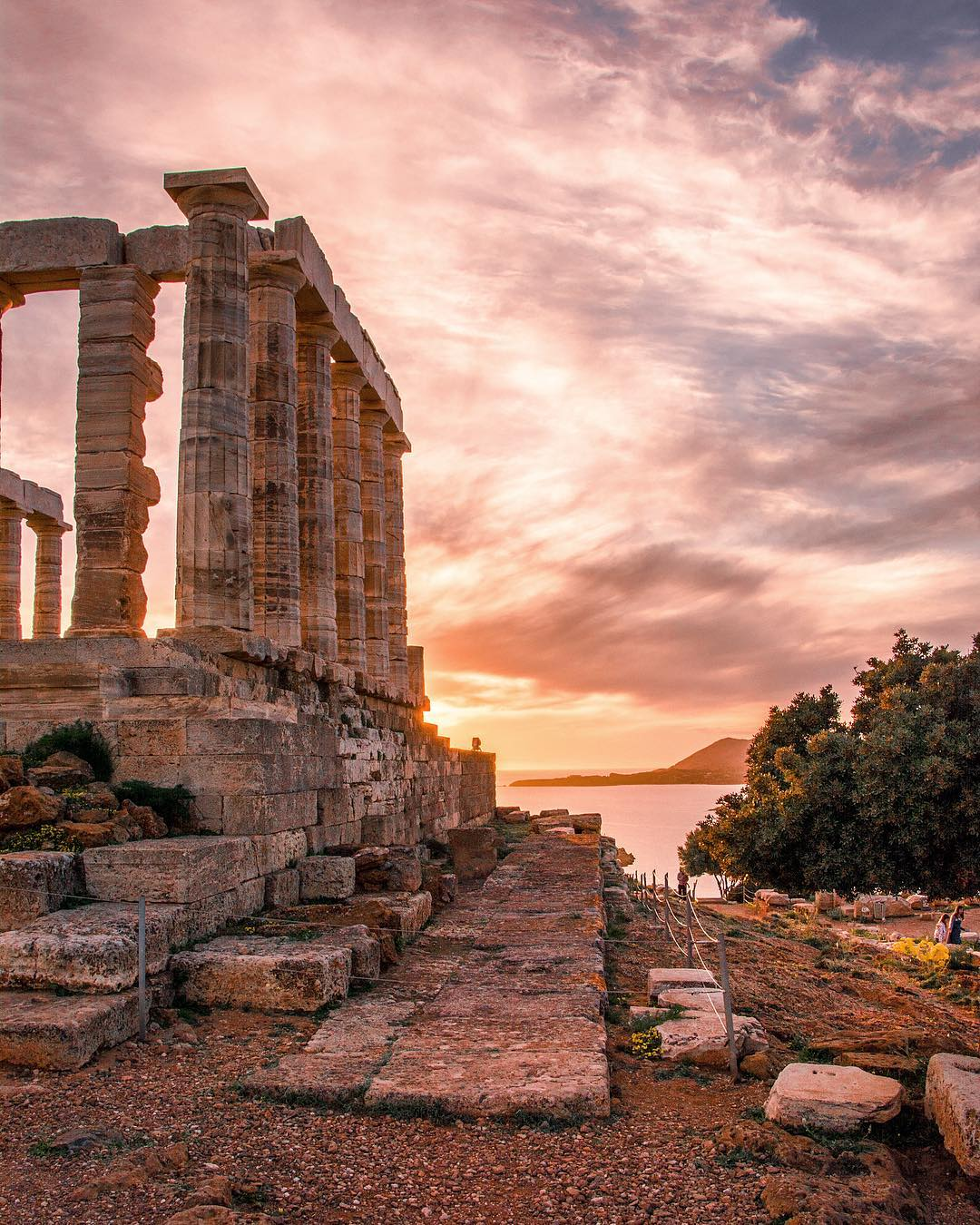 Temple of Poseidon Greece Summer
