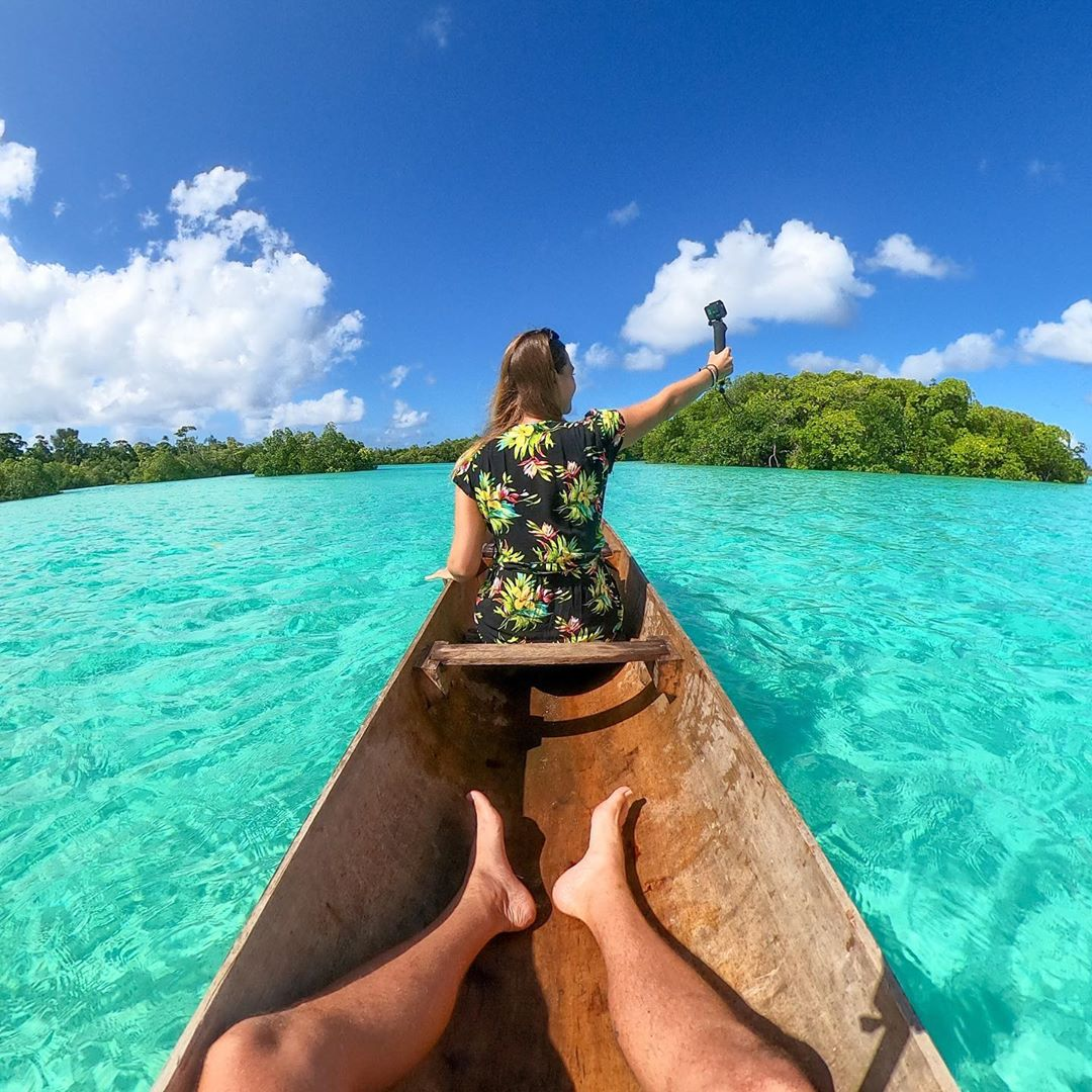 Surfing in the Solomon Islands