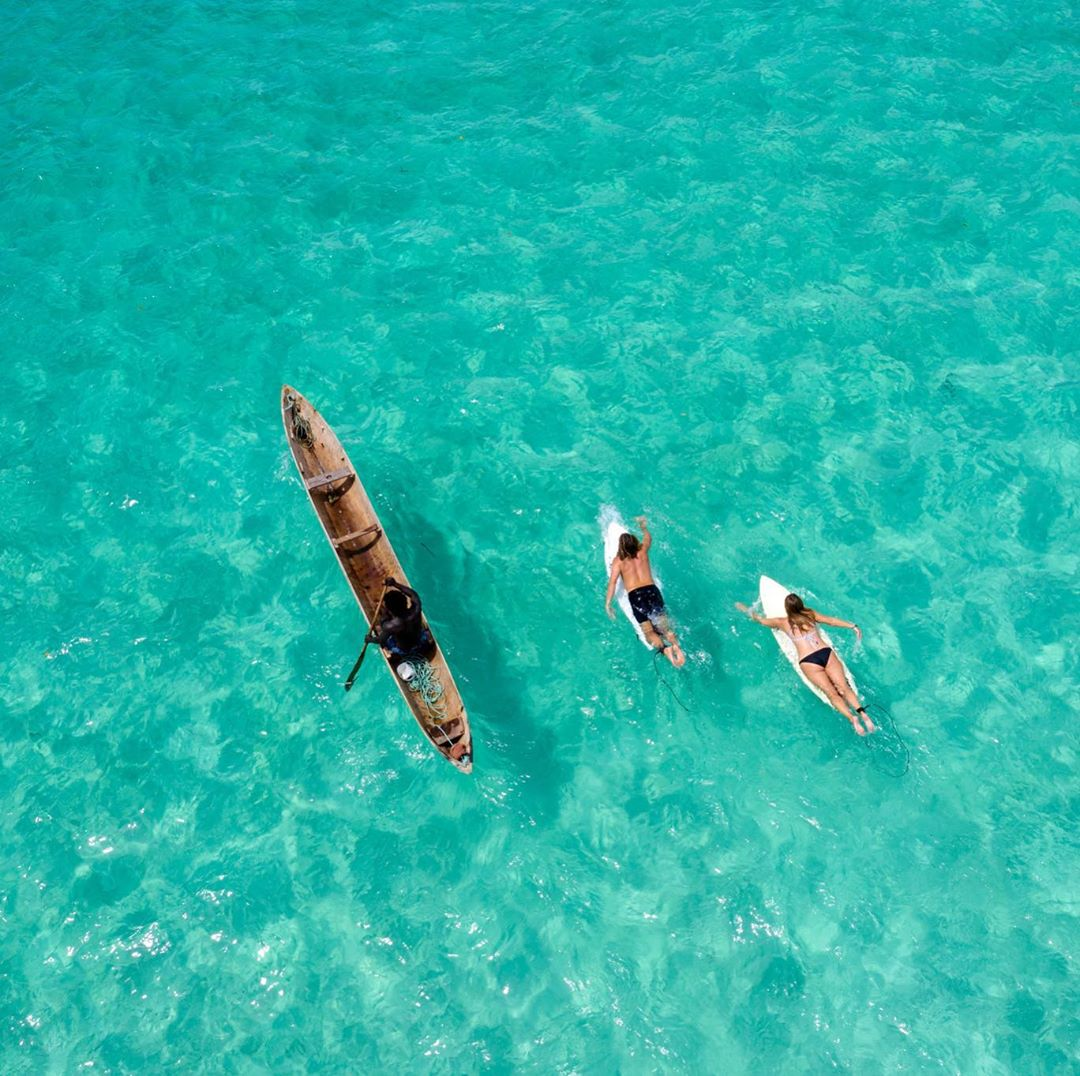 Surfing in the Solomon Islands Crystal Clear Water