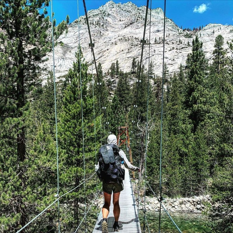 Hiking in the High Sierra Mountains